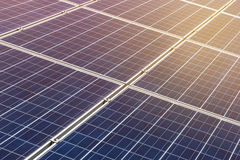 Close up solar cells alternative renewable energy from the sun Stock Images