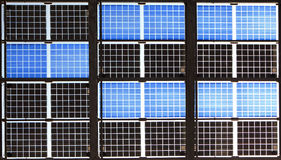 Close up of solar panel Stock Image