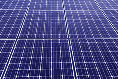 Close up on solar panel Royalty Free Stock Photo