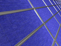 Close up of solar panel array Stock Photo