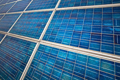 Close up of a solar panel Stock Photo