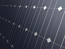 Close up of solar panels Royalty Free Stock Photo