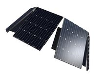 Close up of solar panels Stock Photo