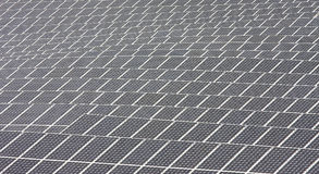 Close-up of solar panels in Andalusia near Nijar Stock Image