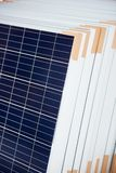 Close-up of solar panels prepared for installation royalty free stock photo