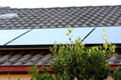 Close up of Solar Panels on Roof 2 Stock Images
