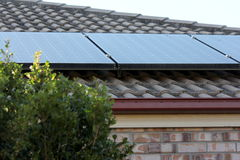 Close up of Solar Panels on Roof 3 Stock Photo