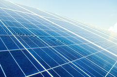 Close up with solar power silicon panels Royalty Free Stock Photos