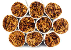 Close up of some cigarettes Royalty Free Stock Images
