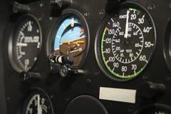 Helicopter cockpit flight instrument panel gauges Royalty Free Stock Photo
