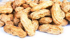 Close-up of some peanuts Royalty Free Stock Image