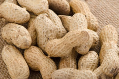 Peanuts. Close-up of some peanuts. background royalty free stock images