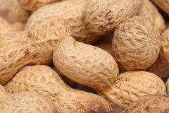 Close-up of some peanuts. background Royalty Free Stock Photography