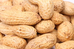 Close-up of some peanuts. background Stock Images