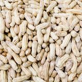 Close-up of some peanuts. background Royalty Free Stock Photo
