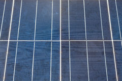 Close-up of some solar energy panels for electricity production Stock Photo