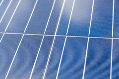 Close-up of some solar energy panels for electricity production Stock Image