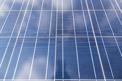 Close-up of some solar energy panels for electricity production. A close-up of some solar energy panels for electricity production Royalty Free Stock Image