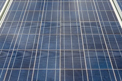 Close-up of some solar energy panels for electricity production Stock Photography