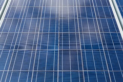 Close-up of some solar energy panels for electricity production Stock Images