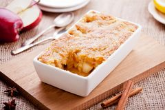 Homemade Apple Crumble. Close up of some tasty homemade apple crumble Royalty Free Stock Images