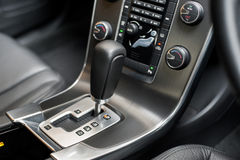 Gear lever plus aircon controls Royalty Free Stock Photo