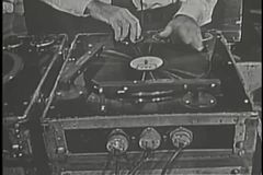 Close-up of sound engineer working stock video