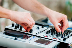 Close-up of sound mixer control panel Stock Photos