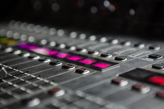 Close-up of sound mixer Royalty Free Stock Photos