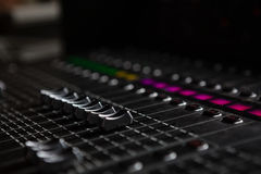 Close-up of sound mixer Stock Photography