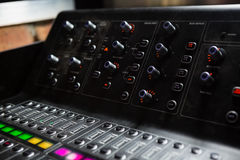 Close-up of sound mixer Royalty Free Stock Photo