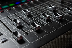 Close-up of sound mixer Stock Images