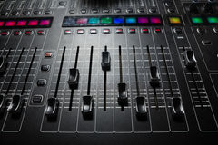Close-up of sound mixer Royalty Free Stock Images