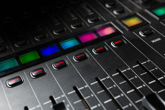 Close-up of sound mixer Royalty Free Stock Photography