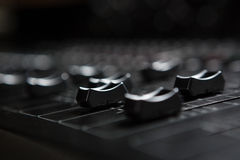 Close-up of sound mixer Stock Photos