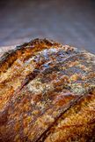 Close Up Sourdough Bread On Wood Stock Photo