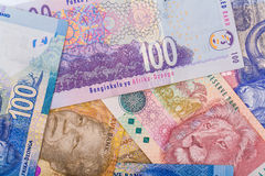 Close up of South African currency the Rand Royalty Free Stock Photo