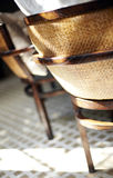Close-up of the Southeast Asian style chair Royalty Free Stock Photo