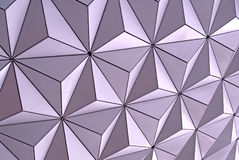 Disney Epcot Spaceship Earth Close-Up Stock Photo