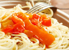 Close up spaghetti Royalty Free Stock Image