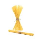 Close up of Spaghetti isolated. Stock Image