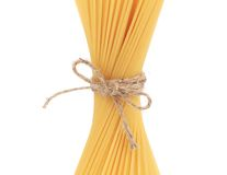 Close up of Spaghetti isolated. Royalty Free Stock Images