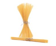 Close up of Spaghetti isolated. Royalty Free Stock Photos
