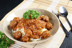 Close up Spaghetti Meatball Royalty Free Stock Image