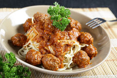 Close up Spaghetti Meatball Royalty Free Stock Photo