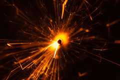 Close up of a Sparkler stock photo