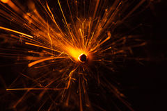Close up of a Sparkler royalty free stock photography