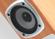 Close up of a speaker, shallow focus Stock Photo
