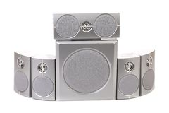 Close up of speaker system. Royalty Free Stock Images