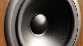 Close up of speaker in work stock video